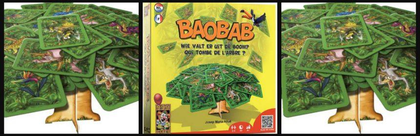 Baobab spelletje gezelschapsspel kaartspel 999 games 6+ gezin eenvoudig spelregels makkelijk hilarisch