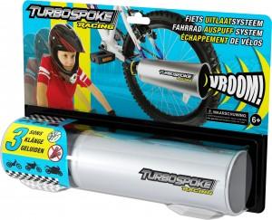 turbospoke racing uitlaat fiets motorgeluid lawaai