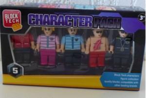 Block Tech Character Pack figs poppetjes bouwstenen lego