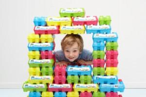 Jumbo Eggyplay eierdozen vrije uitloop eieren knutselen bouwen bouwstenen blokken bouwen