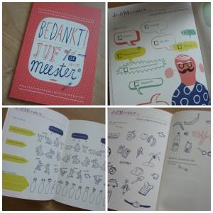 bedankt juf of meester bedankje juf meester leerkracht uitgeverij snor rapport  vriendenboekje boekje