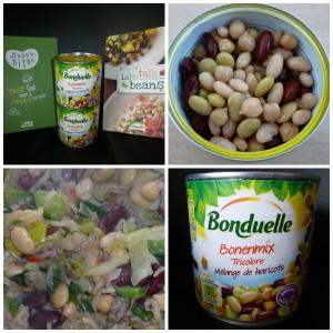 bonduelle bonenmix tricolore witte bonen rode kidneybonen limabonen kikkererwten groente blik
