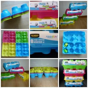 Eggyplay Jumbo Supermarkt eierdozen bouwstenen knutselen