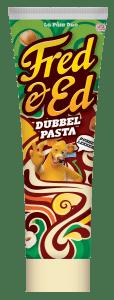 Fred & Ed dubbelpasta witte chocolade hazelnootpasta  pasta broodbeleg in tube