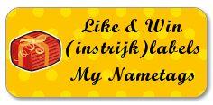 My Nametags Winactie winnen naamlabels plaklabels instrijklabels Facebook