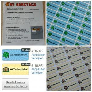 My Nametags plaklabels wijtestenhet gekleurde stickers bedrijfsnaam
