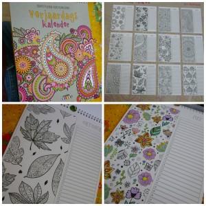 Verjaardagskalender kleuren voor volwassenen lantaarn publishers