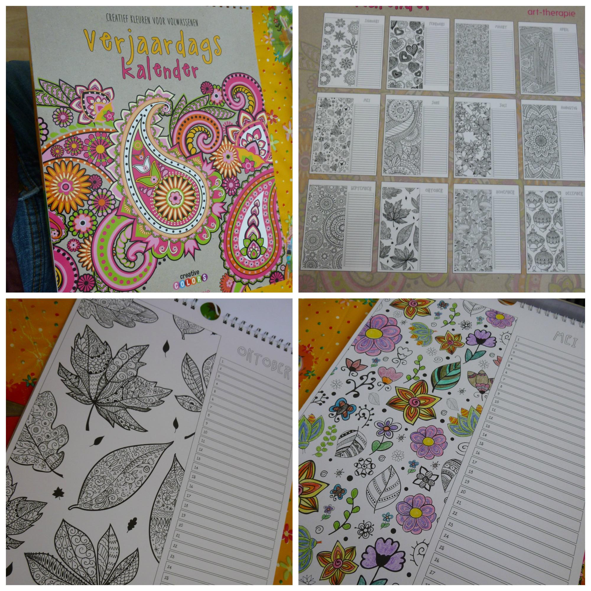 Kleurplaten Volwassenen Waarom.Verjaardagskalender Creatief Kleuren Voor Volwassenen