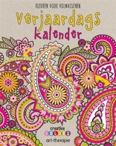 Verjaardagskalender creatief kleuren voor volwassenen  uitgeverij de lantaarn lantaarn pubishers