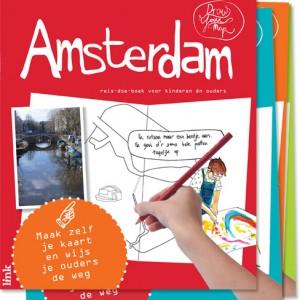 DrawYourMap Amsterdam stedentrip kinderen reisgids doeboek plattegrond