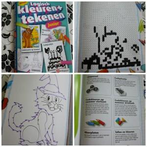 Denksport logisch kleuren en tekenen junior puzzelboekje kleurboek
