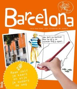 DrawYourMap Barcelona stedentrip Spanje vakantie reisgids kinderen plattegrond