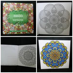 Het enige echte mandala kleurboek om te versturen kleuren volwassenen ansichtkaarten