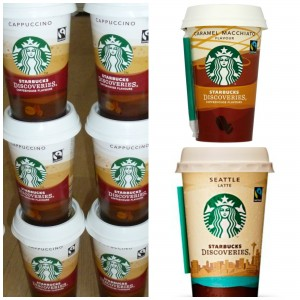 Starbucks Discoveries Seattle Latte Chilled Cappuccino Caramel Macchiato #chillmoment