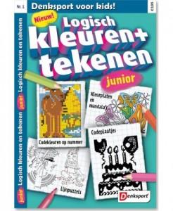 denksport logisch kleuren en tekenen junior puzzelboekje kleuren tekenen