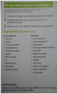 HelloFresh box ingrediëntenlijst waar op te bergen