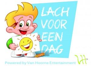 Logo Lach voor een dag Van Hoorne Entertainment Stichting Lach voor een dag