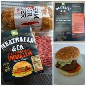 Meatballs & Co gehaktkruiden Amerikaans Boston burger hamburger albert heijn euroma