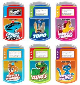 Nova Carte Scroll Games Kittens en Katten Pony's en paarden Droomauto's Topo Puppies en honden Dino's quiz kinderen spelletje vanaf zes jaar recensie