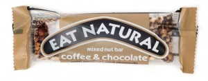 eat natural coffee & chocolate mixed nut bar notenreep tussendoortje