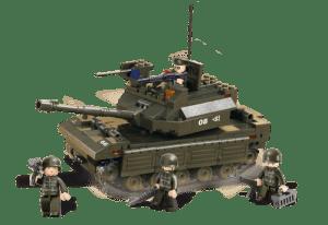Sluban Army Tank M38-B6500 bouwstenen