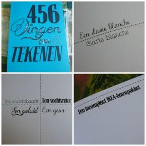 456 dingen om te tekenen recensie opdrachten boek werkboek BBNC cadeau creatief