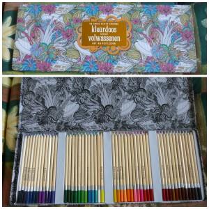 De enige echte enorme kleurdoos voor volwassenen 48 potloden recensie BBNC kleuren