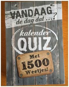Vandaag de dag dat...? KalanderQuiz 1500 weetjes elk jaar te gebruiken recensie