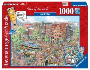 puzzel ravensburger cities of the world amsterdam hoofdstad Nederland jan van haasteren 1000 stukjes