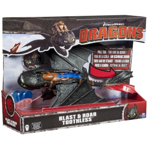 Hoe tem je een draak Blast & Roar Tandloos How to Dragons Toothless Spin Master brullen recensie review speelfiguur