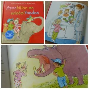 Apenbillen en Wiebeltanden recensie review dagmar stam vivian den hollander kinderboekenweek thema raar maar waar van holkema en warendorf voorlezen peuters