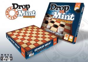 Drop vs Mint damspel dammen nova carta drop pepermunt snoepspelletje