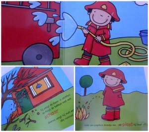 Het brandweermannetje marianne busser ron schroder kathleen amant brandweer recensie review kartonboekje baby peuter