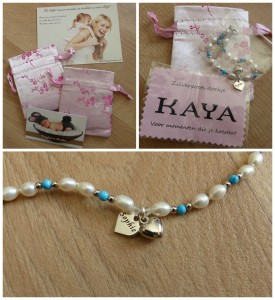 KAYA sieraden kinderarmband met voornaam sophie sieradenbuideltje recensie handgemaakt verlengketting Sea Breeze