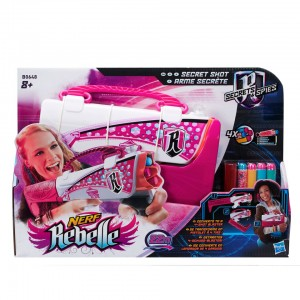 Nerf Rebelle Secret Shot foam darts recensie review Secret & Spies blaster bogen handtas