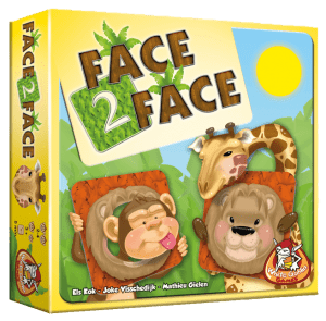 Face 2 Face White Goblin Games memospel memorie memory gekke gezichten dieren recensie review