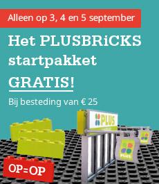 mededeling-gratis-startpakket PLUSBRICKS PLUS supermarkt spaaractie boodschappen