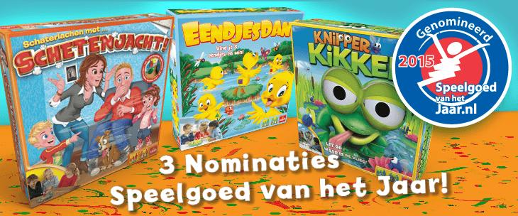 Nominaties Speelgoed van het jaar 2015 Goliath Games Eendjesdans Knipper Kikker Schetenjacht recensie review