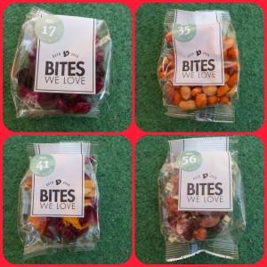 Bites We Love box tussendoortjes noten zaden superfoods gedroogd fruit chocolade verantwoord zakjes bites gezond brievenbus lidmaatschap opzeggen kortingscode 50 % korting recensie review