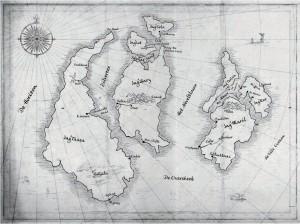 De kronieken van de zeven eilanden plattegrond de heersers van kir de oude magie mariëtte aerts uitgeverij de vier windstreken recensie review kinderboek 12+volwassenen fantasy