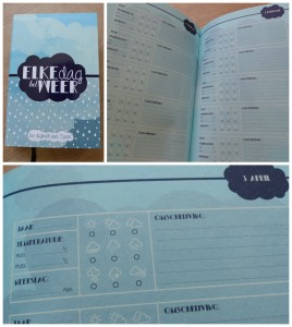 Elke dag het weer logboek dagboek recensie review cadeau weerbericht temperatuur neerslag recensie review BBNC Uitgeverij