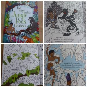 Het enige echte jungle book kleurboek recensie review BBNC uitgevers recensie review kleurplaten kleurpotloden stiften