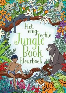 Het enige echte jungle book kleurboek BBNC uitgevers kleuren doeboek disney verhaal film prentenboek kleurplaten kleurpotloden stiften