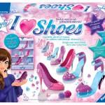 I love shoes Ravensburger schoenen ontwerpen sandalen pumps high heels schoenenrek schoenenkast showen lade pinnetjes kralen pompons tule recensie review
