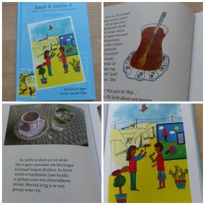 Heimwee Jamil & Jamila 2 recensie review vluchtelingenkamp vluchtelingen syrië muziek schoolcontainers kunstwerken Droomvallei uitgeverij