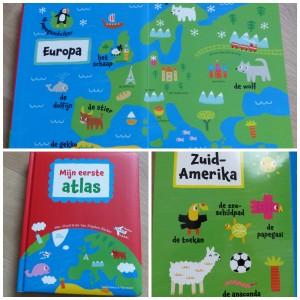 mijn eerste atlas recensie review werelddelen oceanië australië europa Nederland molen, eiffeltoren, tijger kartonboek