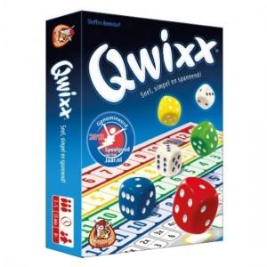Qwixx White Goblin Games dobbelspel recensie review 8+ scoreblok puntentelling speelplezier spelletje dobbelen aankruisen