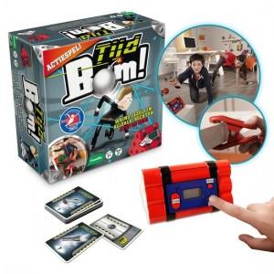 Tijdbom recensie review spel 7+ identity games parcours kaarten opdrachten klemmen draden meubels woonkamer ruimte stress spannend avontuur
