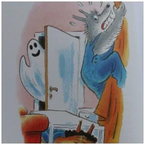 Weerwolvensoep weerwolvenbos Paul van Loon dolfje Weerwolfje recensie review letterformaat elke zin nieuwe regel prenten kleurrijk spannend avontuur Leopold