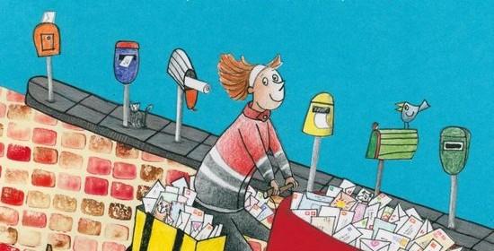 Willewete De post Netty van Kaathoven Hiky Helmantel recensie review prentenboek brief kaart post brievenbus reis Clavis books